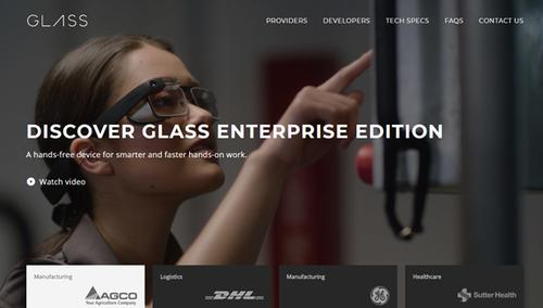 Copie du site Google Glass en 2020